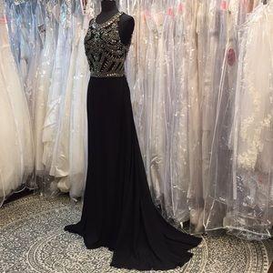 Dresses & Skirts - Metallic Lover Black Luxury Gown